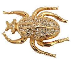 Vintage French beetle brooch from the 60's