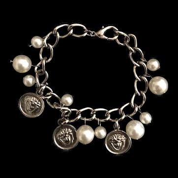 Vintage charm bracelet signed Versace