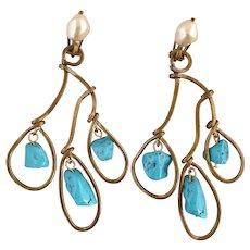 Turquoise metal Marni rings