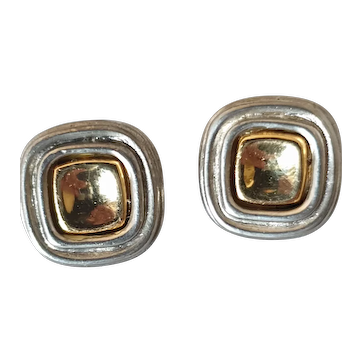 Vintage square earrings by Givenchy
