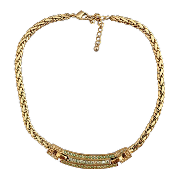 Vintage choker signed Dior with crystals