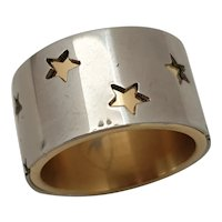 Double Layer ring signed Thierry Mugler