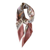 Scarf by Hermès titled Cols Verts