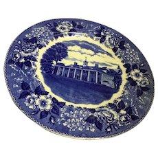 Adams Old STAFFORDSHIRE Ware Mt. Vernon Transferware Plate