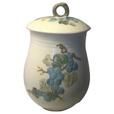 "Metlox Sculptured Grape - 8 1/8"" Flour Canister with Lid"