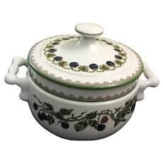 Goebel BROMBEERE 2.5 Qt Covered Handled Casserole - West Germany - 1980s