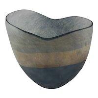 Murano Scavo Art Glass Vase