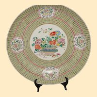 Chinese Famille Rose Charger with Basket Design, 20th c.