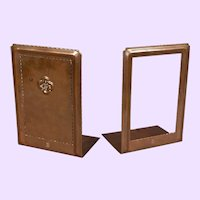 Arts and Crafts Period Hand-Hammered Copper Roycroft Bookends