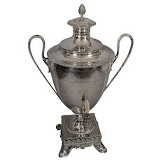 Antique George III Style Silverplated Hot Water Urn