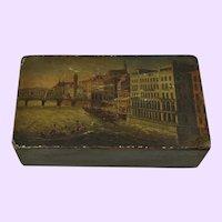 Swiss/French Papier-Mache Snuff Box circa 1830