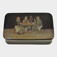 Russian Papier Mache Snuff Box circa 1860