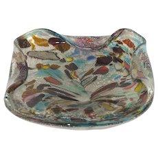 Tutti-frutti millefiori Murano glass bowl