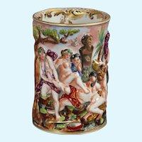 Capodimonte porcelain figural vase
