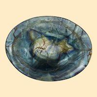 Chinese blue-veined flourite offering bowl