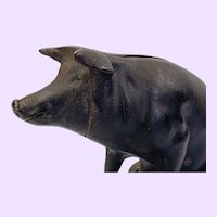 Vintage American Cast Iron Piggy Bank