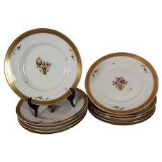 Royal Copenhagen soup bowls with underplates