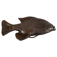 Pewter fish design belt buckle