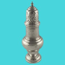 English George V Sterling Silver Muffineer or Sugar Shaker