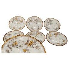 Haviland Limoges Oyster Plates, set of 6