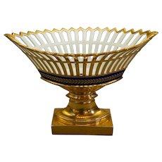 Old Paris reticulated center bowl, 19th century