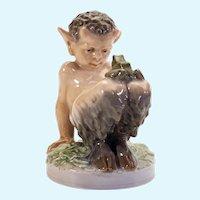 Royal Copenhagen porcelain of a baby satyr/faun