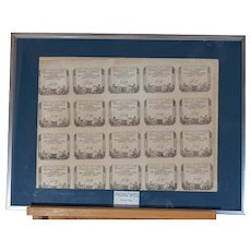 Twenty assignats from France, 1793