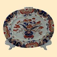 Mason's ironstone Imari pattern oval plate