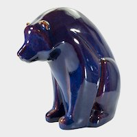 Large Zsolnay Style Art Deco Seated Bear