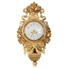 Antique Gustavian Wall Clock