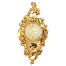 Large Rococo Style Wall Clock