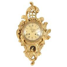 Small Rococo Style Wall Clock
