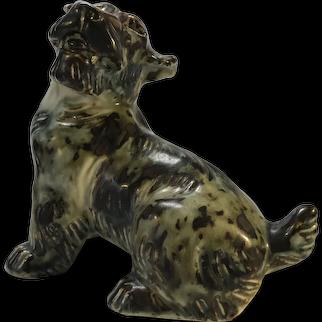 Knud Kyhn For Royal Copenhagen 1950s Sung Glaze Stoneware Terrier Dog # 20129