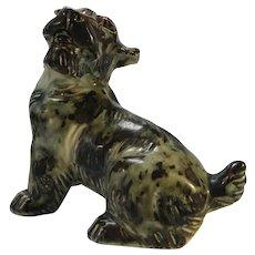 Knud Kyhn For Royal Copenhagen Sung Glaze Stoneware Terrier Dog # 20129