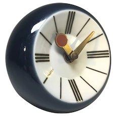 Snorre Læssøe Stephensen For Royal Copenhagen Porcelain Enamel Wall Clock 1970s