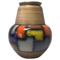 Aldo Londi For Bitossi, Italy, Mid-Century Vetrata Series Ceramic Shaped Vase 1960's