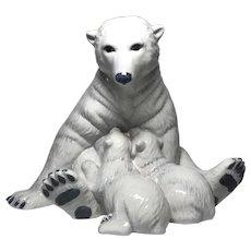 Allan Therkelsen For Royal Copenhagen, Twin Polar Bear Cubs Porcelain Figurine #356