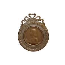 Antique French Joan Of Arc Medal Beatification 1909