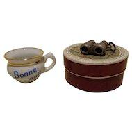 """French Miniature Binoculars & """"Pot de Chambre"""""""