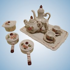 French Miniature Mignonette Tea Set