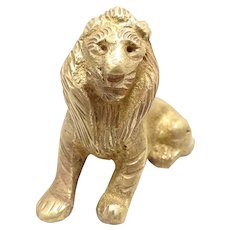 French Miniature Bronze Lion