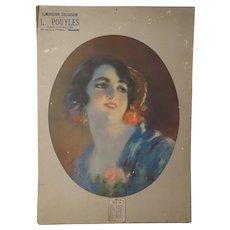 1934 Art Deco French ChromoLithograph By René Pean