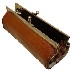 1930 French Miniature Leather Wallet