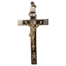 1940 French Lourdes Cross Crucifix