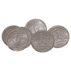 1942 French WWII Coins X6