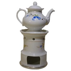 French Porcelain Tisaniere Tea Pot