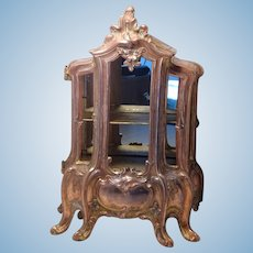 """French Copper Furniture 8"""" Tall - 2 Shelves - Dollhouse Miniature"""