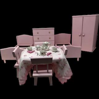 Original Vintage Pink Ginny Doll Furniture