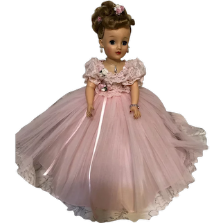 """Vintage 18"""" Miss Revlon in Redesigned Pink Gown"""