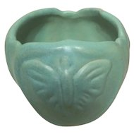 1950s Van Briggle Colorado Springs Butterfly Art Pottery Vase Planter Candle Holder